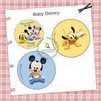 adesivos redondos 5 cm diametro baby disney
