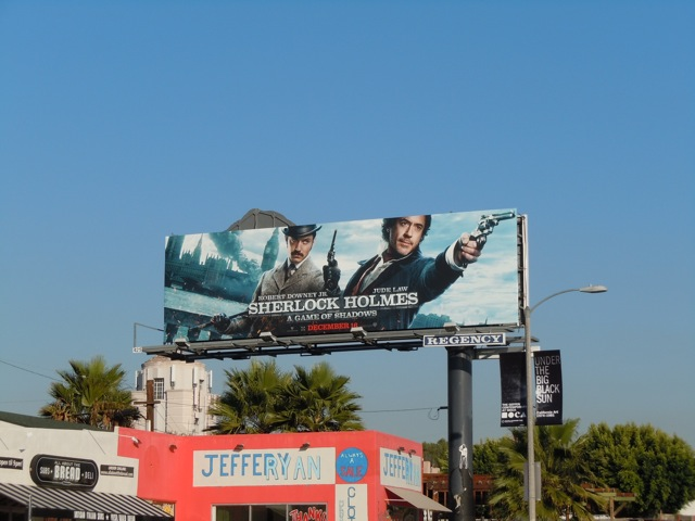 Sherlock Holmes A Game of Shadows billboard