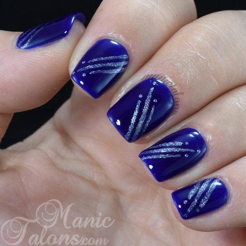 Shooting Dots with Madam Glam Gel Polish Electric Blue and Sweet Lavenda
