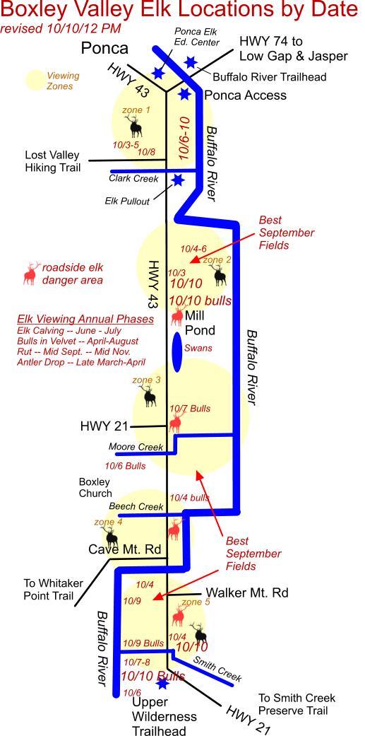 10/10/11 PM Updated Elk Herd Location Map