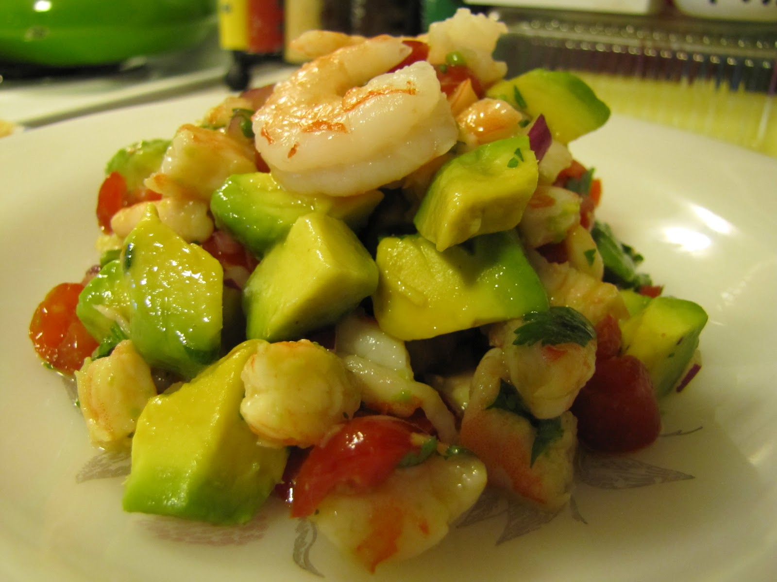 Low-Carb Living ~ Zesty Lime Shrimp & Avocado Salad ...