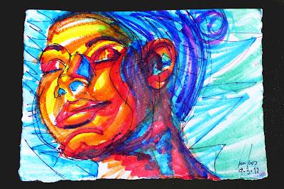 retrato portrait rotuladores markers