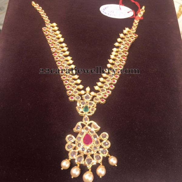 Ruby Polki Necklace 33gms