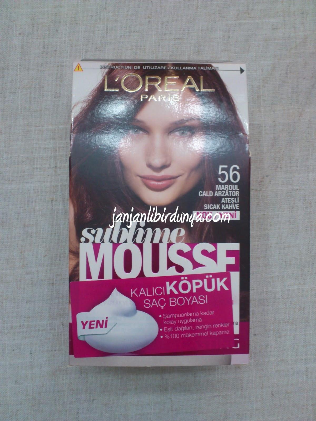 Janjanlı Bir Dünya Saç Deneyleri 3 Loreal Paris Sublime Mousse 56