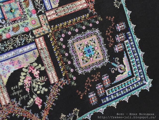 Люстра потолочная с цветами