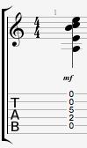 Amadd9 guitar chord