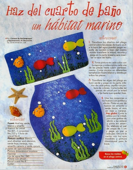 Juegos De Baño Moldes:Moldes para juegos de baño – Revistas de manualidades Gratis