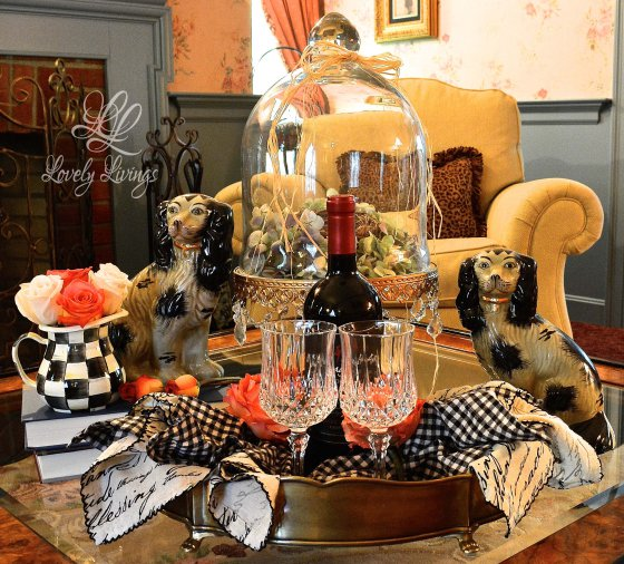 Wine Vignette-Lovely Things-Treasure Hunt Thursday- From My Front Porch To Yours