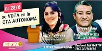Miguel Vale Secretario General / Ailin Pappano Secretaria Adjunta CTAAutónoma