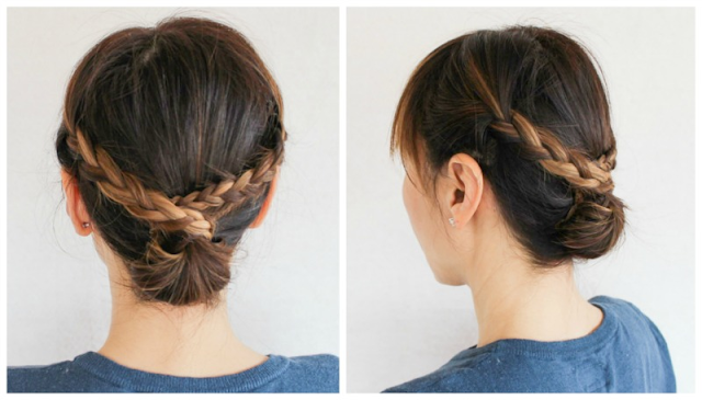 Braid your hair from both sides
