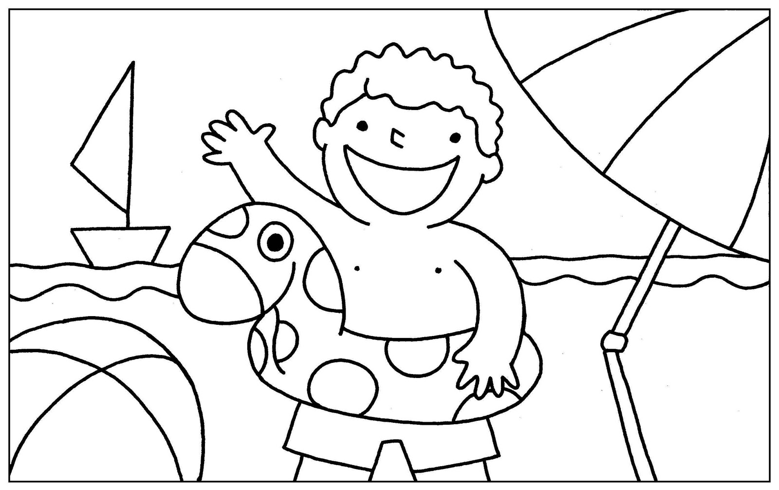 Plastilina y lápiz: Selección de dibujitos para colorear (El Verano)