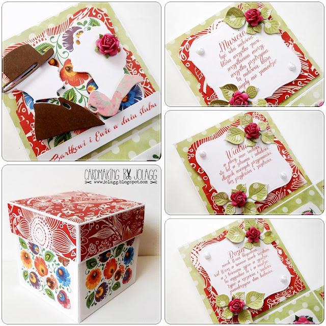 Pudełko ślubne zainspirowane zaproszeniem