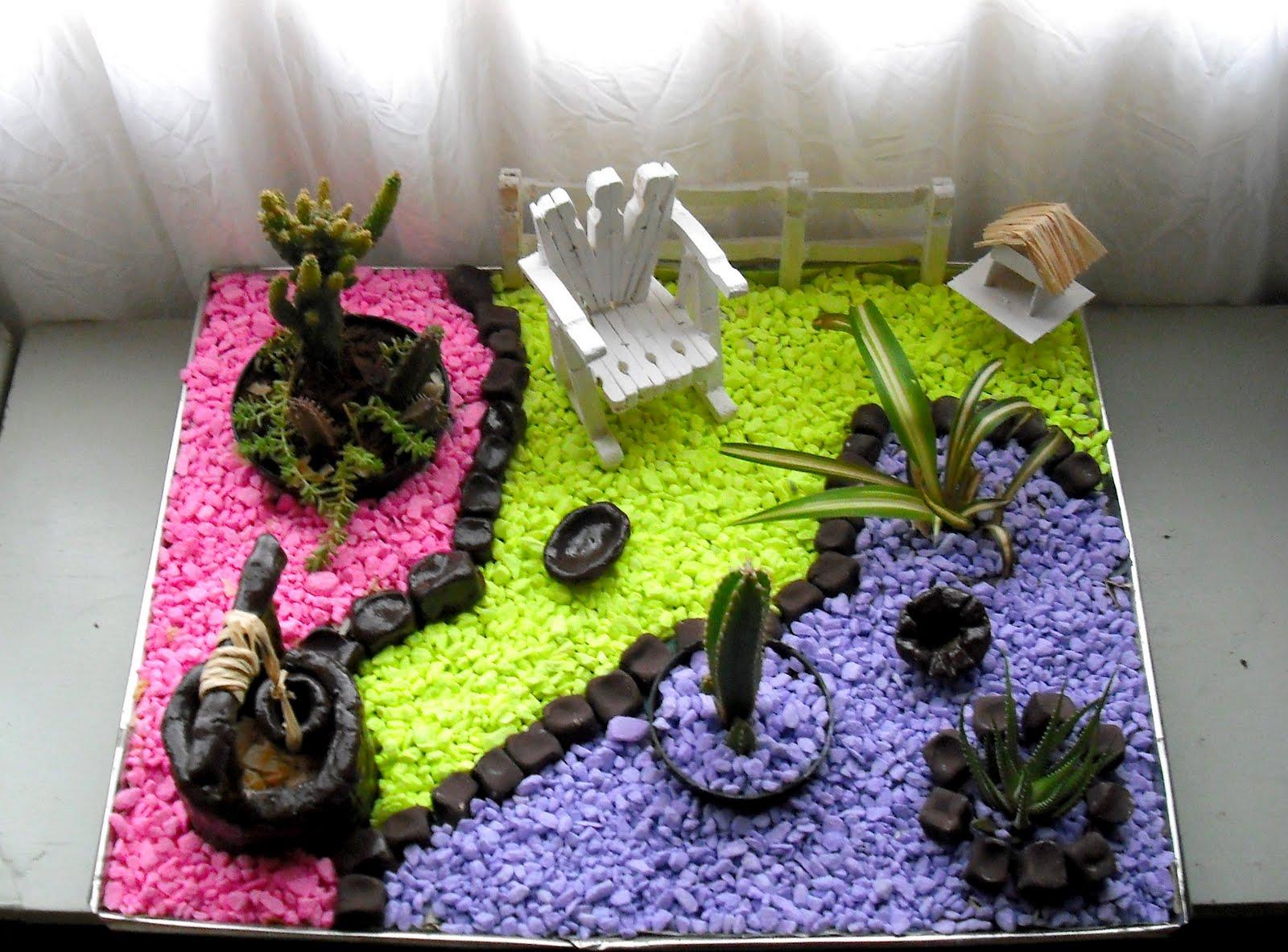 artesanato mini jardim:Artesanato e dicas: MINI JARDIM