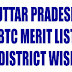 UP BTC Merit List 2013, District Wise upbasiceduboard.gov.in