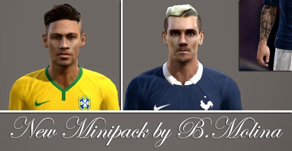 PES 2013 New Minifacepack 2015 by B. Molina