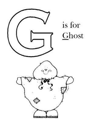 COLOREA TUS DIBUJOS: Letra G en ingles para colorear - Fantasma para ...