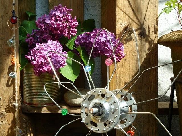 DIY Upcycling Fahrrad Speichen Nabe