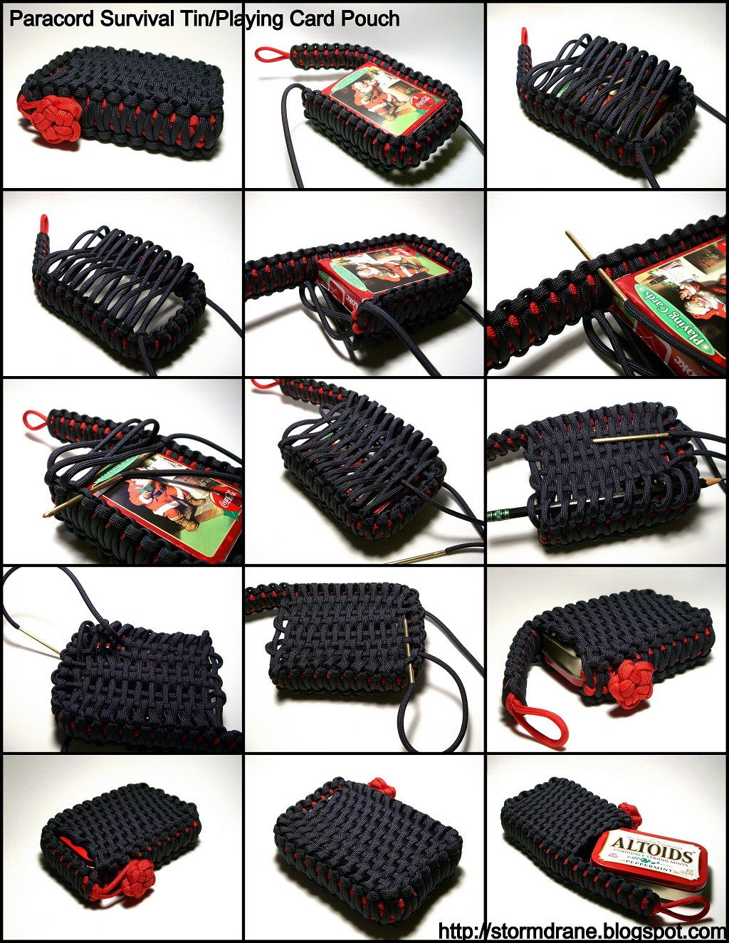 Case Design belt loop phone case : Stormdraneu0026#39;s Blog: Survival Tin/Playing Card EDC Paracord Pouch...