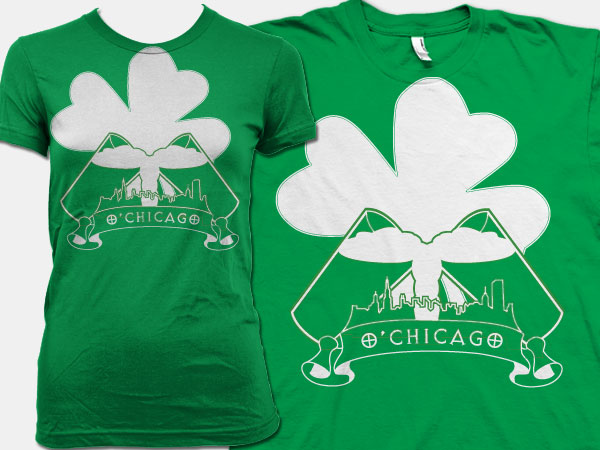 Chicago St Patricks Day Illustration Design Apparel Alice Graphix AliceGraphix