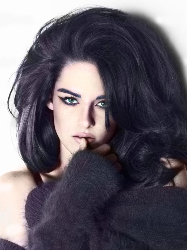 Model Kristen Stewart For W Magazine More Hairstyles
