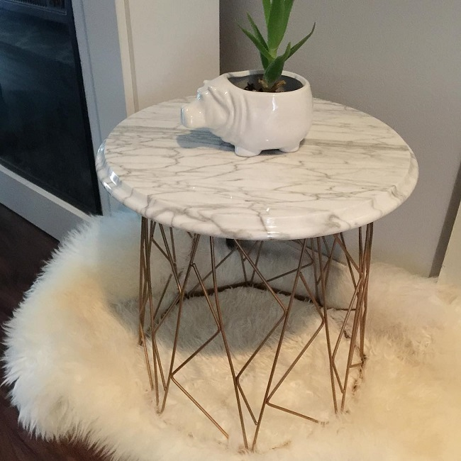 #thriftscorethursday Week 96 | Instagram user: design_it_vintage shows off this Wire Basket Turned Side Table