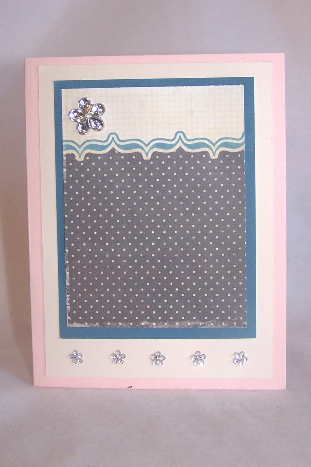 Cream colored cardstock paper studio - This One I Used A New Embossing Folder On The Dark Blue Cardstock It Is Called Scalloped Dots By The Paper Studio From Hobby Lobby