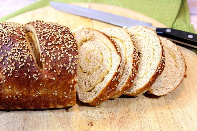 Whole Wheat Dijon Pretzel Bread
