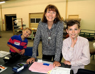 Logan Decker, Marla Gentry, Paxton Decker, grandmother