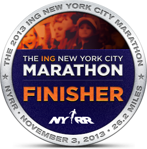NYCM Finishers Badge