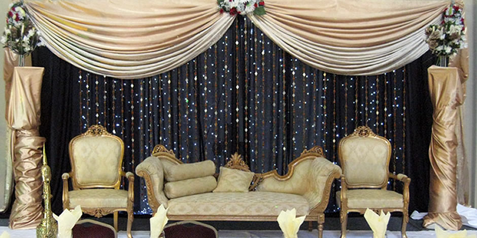 Wedding decoration ideas different wedding stage decorations for Background stage decoration