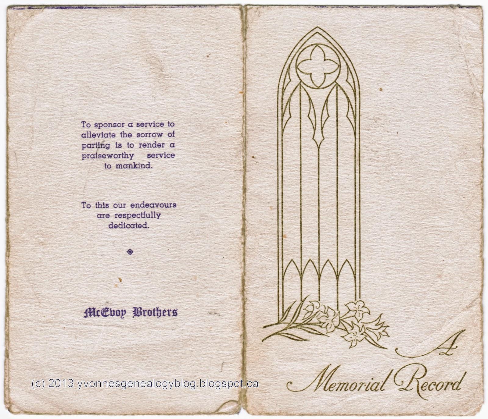 Elizabeth Vanasse (1861-1947) funeral card