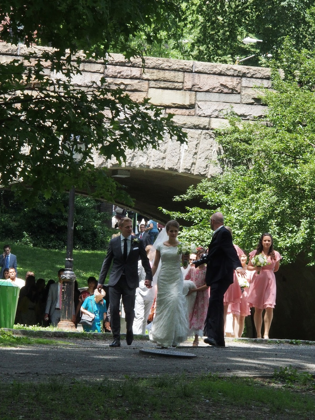 Wedding Party on the Move, #centralpark #nyc #wedding 2014