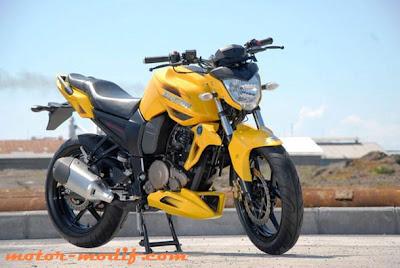 modifikasi motor byson warna kuning  paling bagus