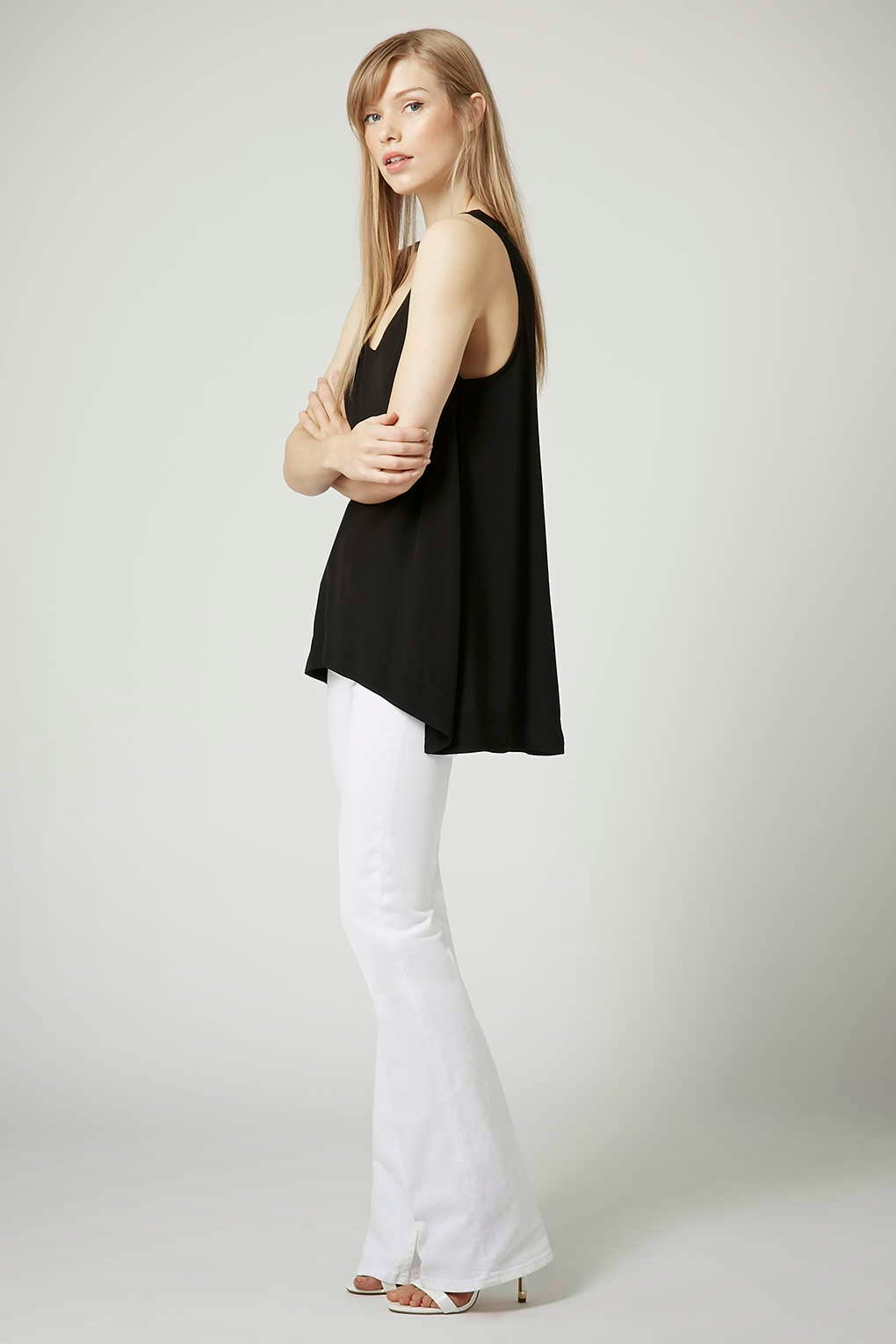 black loose fit vest, v neck black vest,