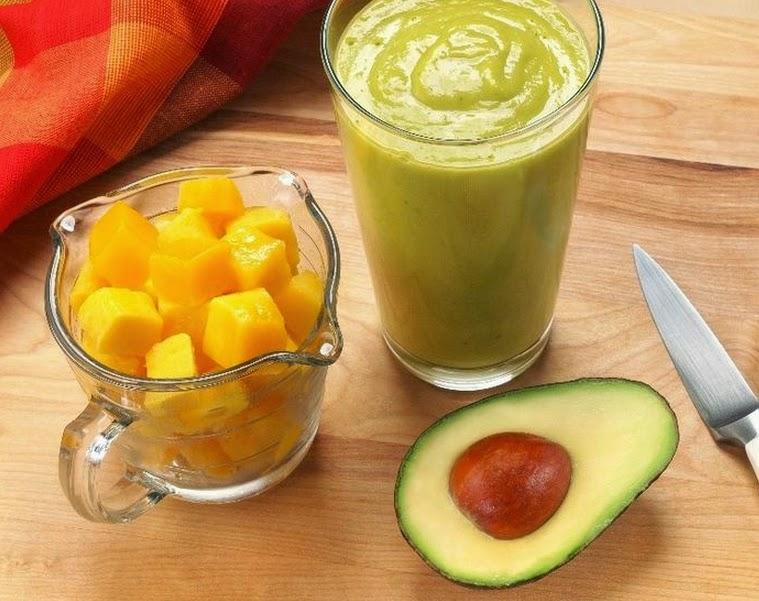Vitamina de Manga e Abacate (vegana)