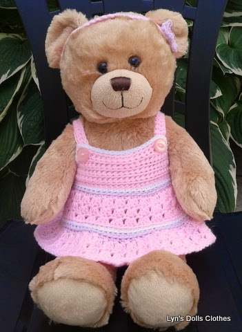 Linmary Knits: Teddy bear crochet dress and headband