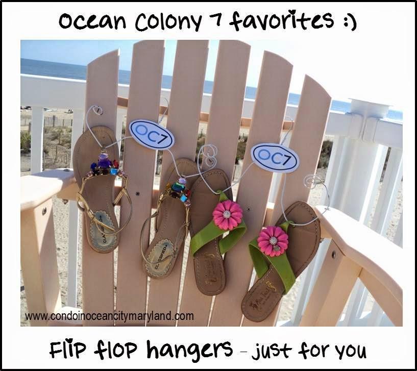Ocean Colony 7 flip flop hangers