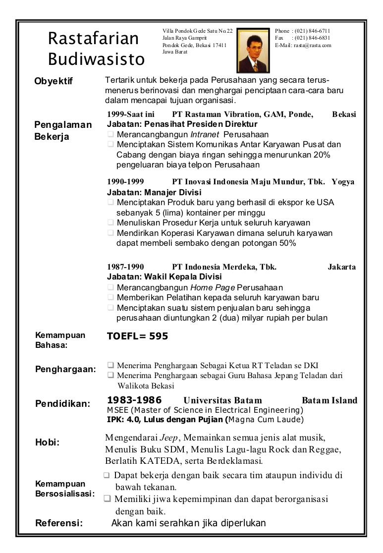 format surat lamaran kerja dan cv
