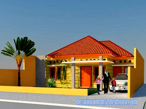 Desain rumah type 120/220 - tampak depan