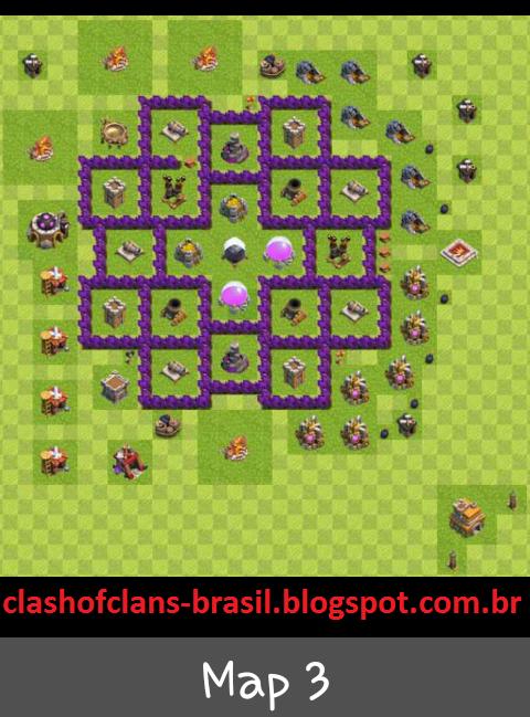 centro da vila 7 farm layout clash of clans dicas