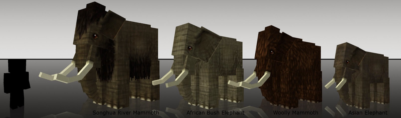 Mo' Creatures Elefantes y mamuts Minecraft mod