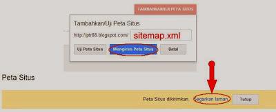 cara mengirim peta situs blog ke google