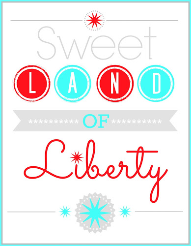Sweet Land of Liberty Printable from Blissful Roots