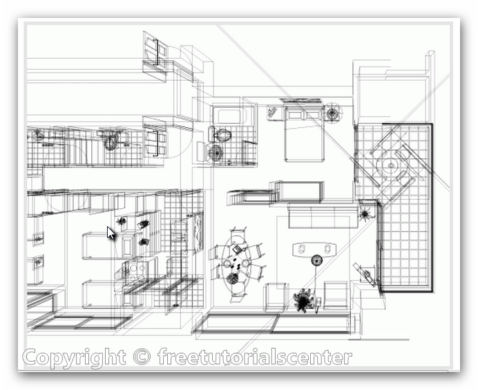 Home plan interior view autocad dwg files for Cad house design