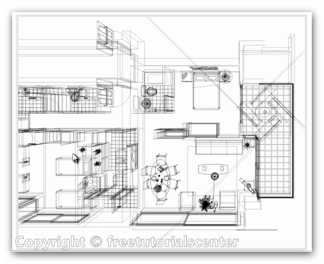 Home plan interior view autocad dwg files for House plan cad file
