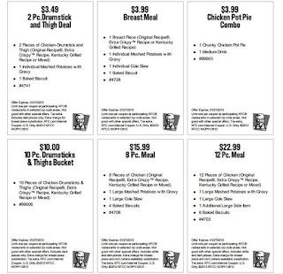 KFC Coupons Printable 2015
