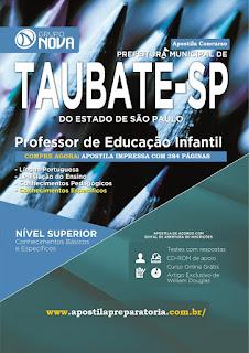 Apostila Prefeitura de Taubaté 2015 para Professor de Educação Infantil (impresso)