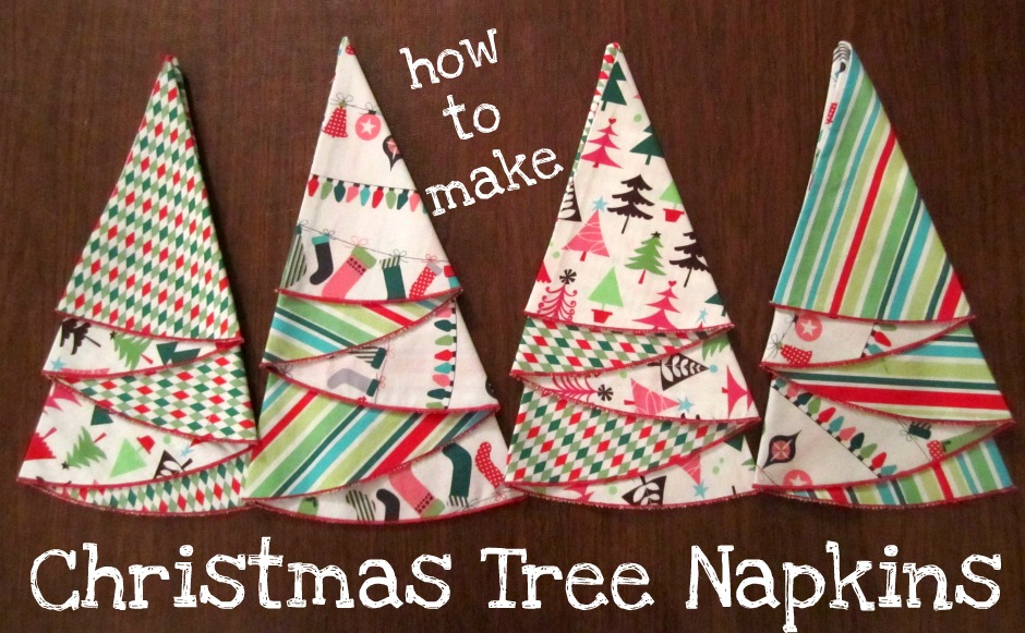 christmas tree napkin tutorial - Christmas Napkins Cloth