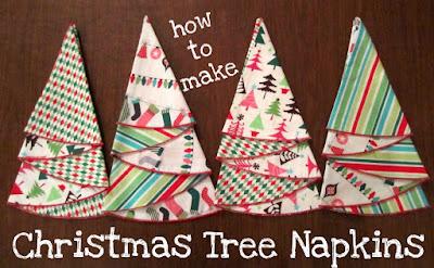Picking Daisies Modern Quilting, Sewing, Fabric + Napkins: Christmas Tree Napkin Tutorial