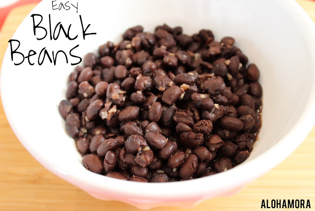 Black Beans.  A simple, quick,, easy, healthy, and nutrtious side dish you can make in less than 5 minutes.  Use canned beans, add 3 spices, and enjoy with chips as a dip, a side dish to any meal, addition to a salad or eggs, a topping for nachos, or many more options.  Just enjoy this diet friendly low carb full of fiber and protein food.  Alohamora Open a Book http://alohamoraopenabook.blogspot.com/ diet friendly, cheap, inexpensive, gluten free, nut free, dairy free, egg free, diabetic friendly, delicious side dish, perfect for salads,